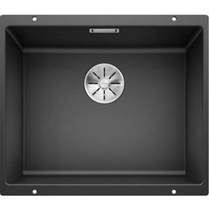 Blanco Silgranit Subline 500-U Single Sink | Anthracite Black
