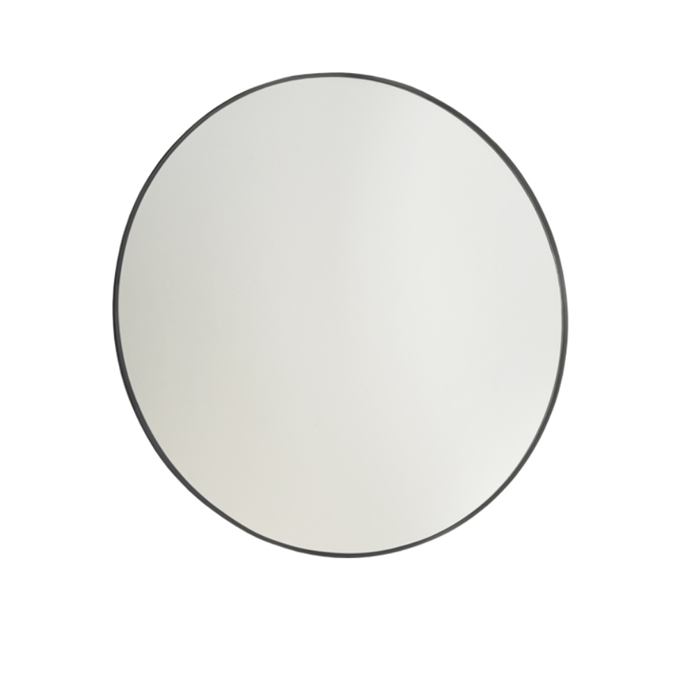 Frame Black 600 Round Mirror