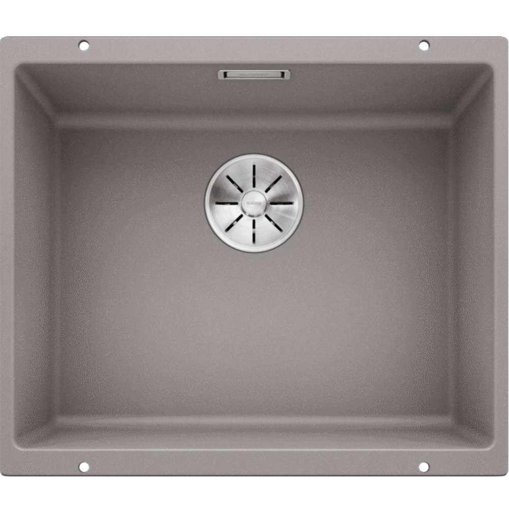 Blanco Silgranit Subline 500-U Single Sink | Alumetallic Grey