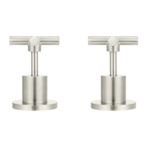 Meir Cross Handle Taps - Brushed Nickel