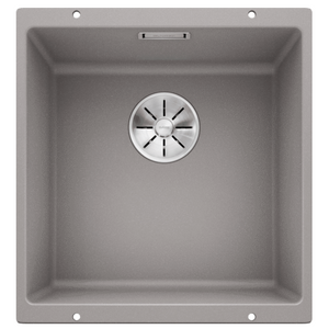 Blanco Silgranit Subline 400-U Single Sink | Alumetallic Grey
