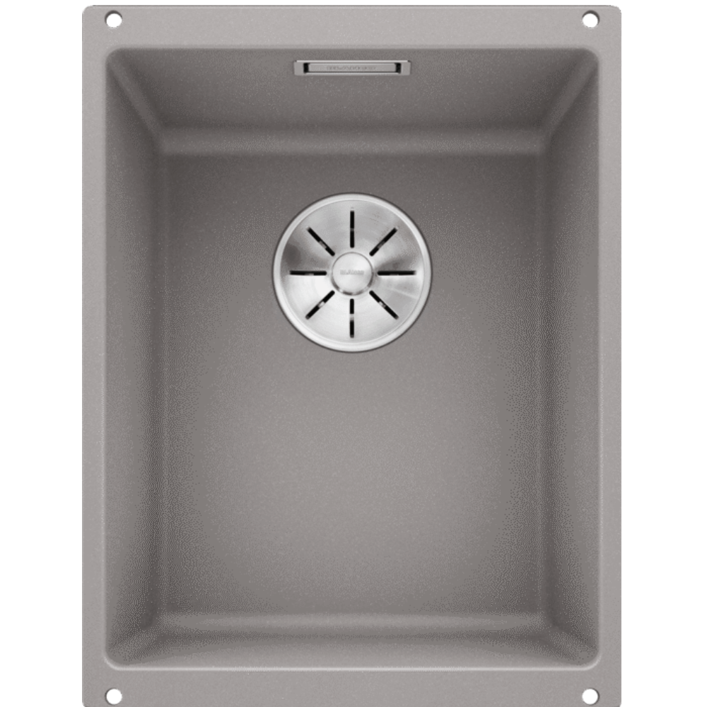 Blanco Silgranit Subline 320-U Single Sink | Alumetallic Grey