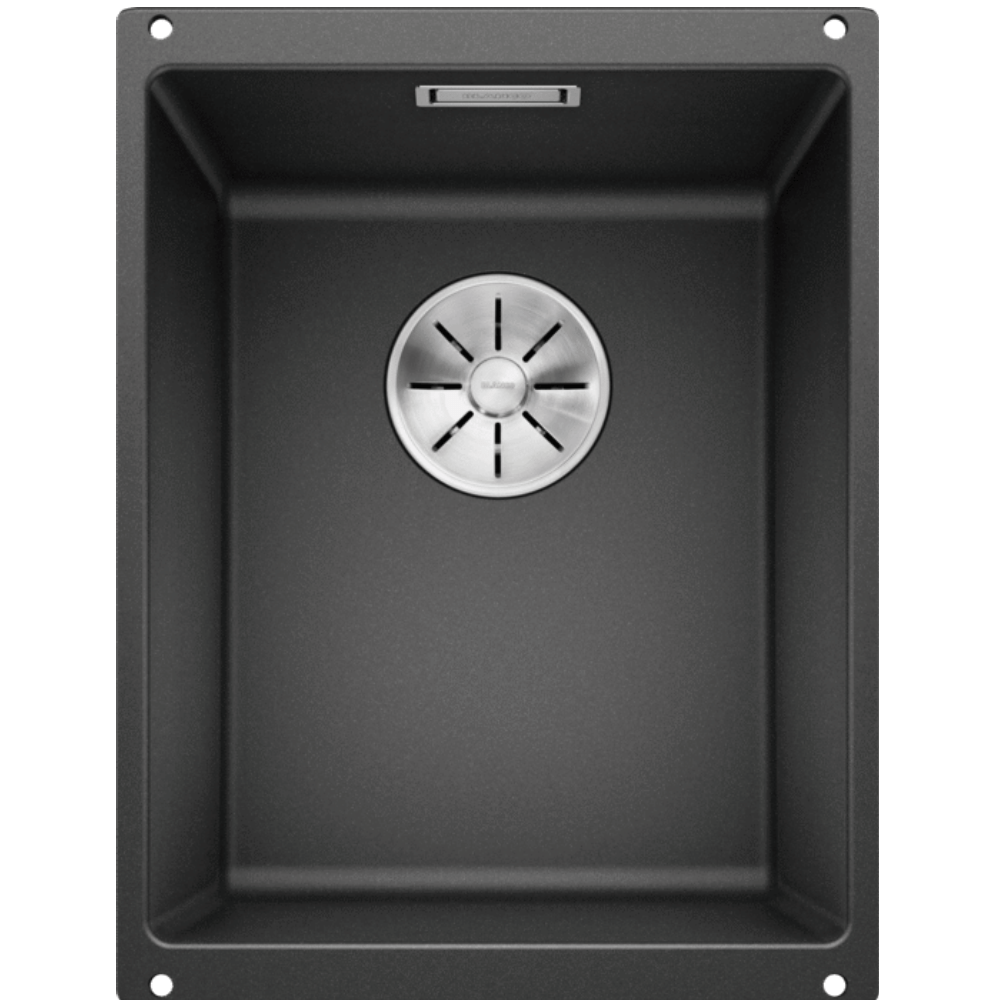 Blanco Silgranit Subline 320-U Single Sink | Anthracite Black