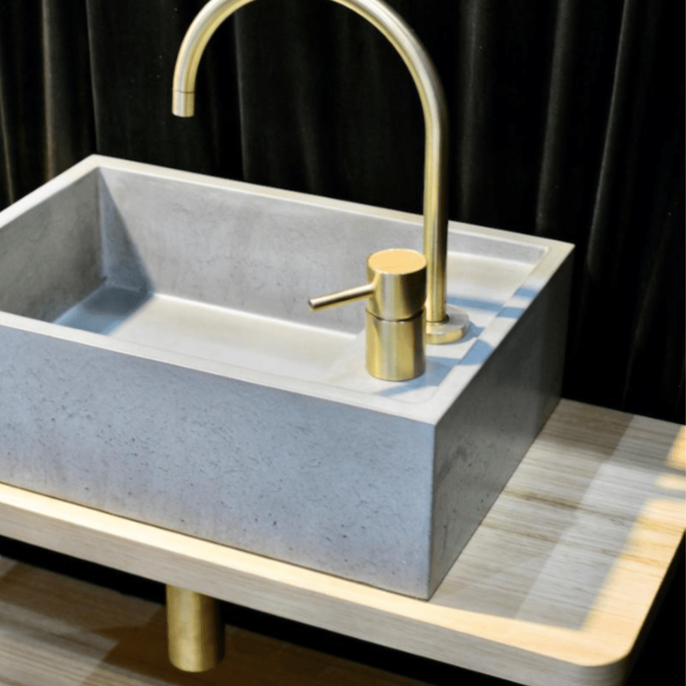 Wood Melbourne Concrete Vessel Basin - Sienna