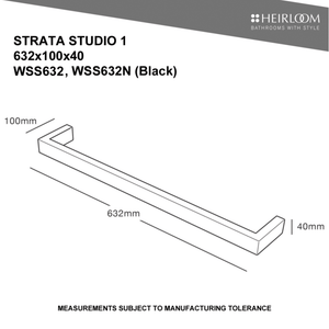Heirloom Strata Studio 1 632 Towel Warmer - Black