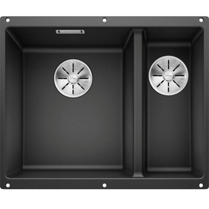 Blanco Silgranit Subline 340/160-U Double Sink | Anthracite Black