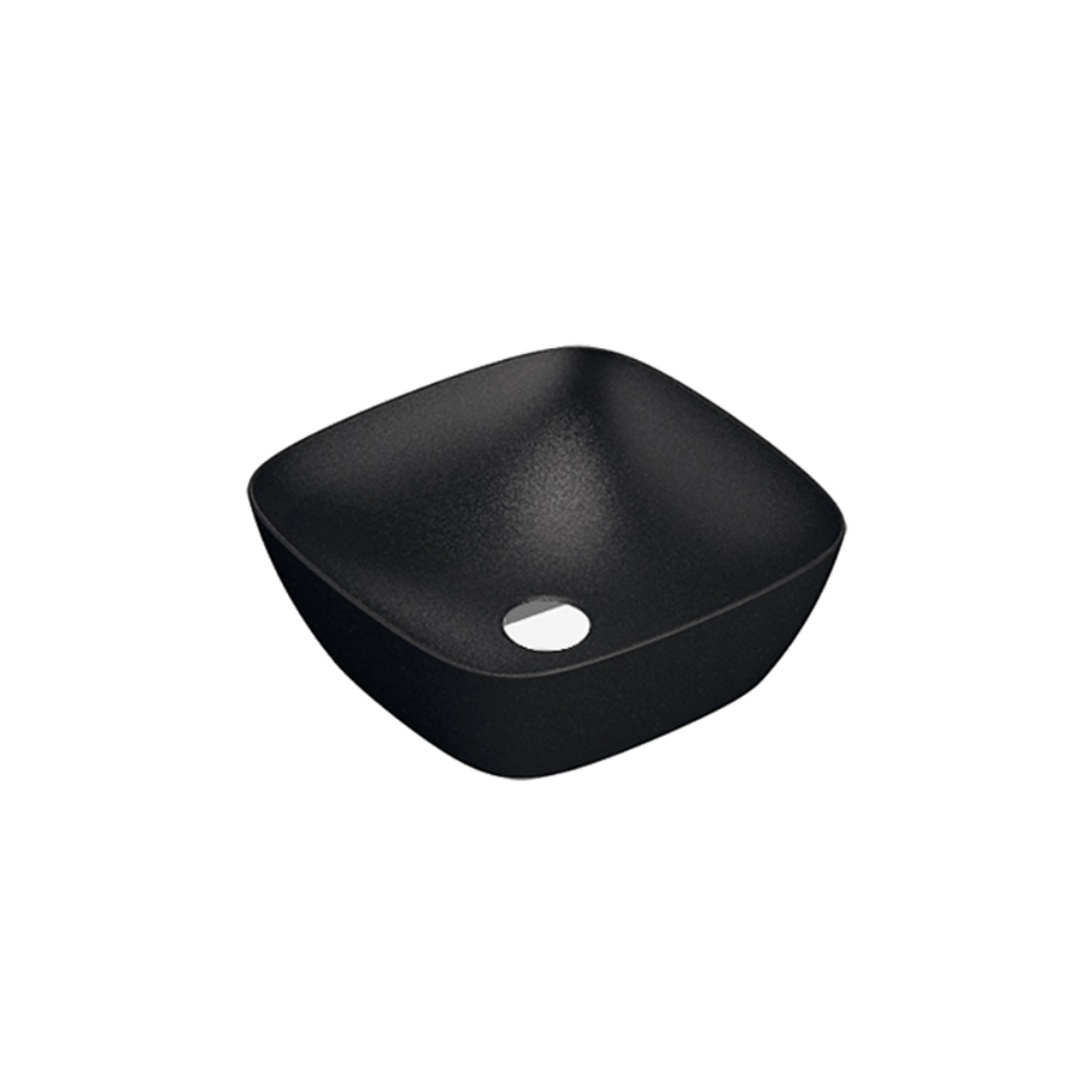 Green Lux 40 Vessel Basin Matte Black