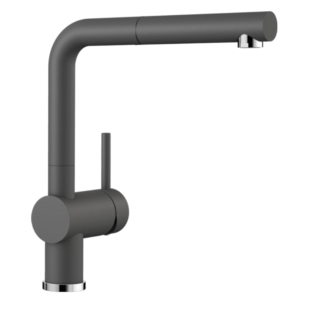 Blanco Linus S Kitchen Tap - Pull Out - Rock Grey