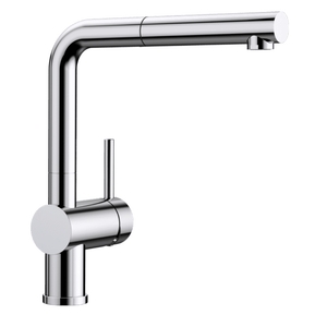Blanco Linus S Kitchen Mixer with Pull Out Function - Chrome