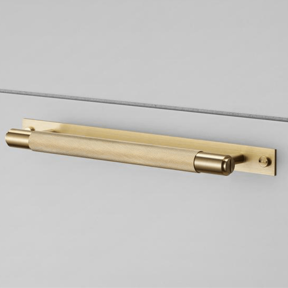 Buster + Punch Pull Bar Handle with Backplate - Brass