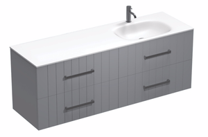 Linea Spio 1500 4 Drawer Right Basin Vanity
