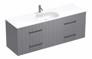 Linea Spio 1500 4 Drawer Centre Basin Vanity