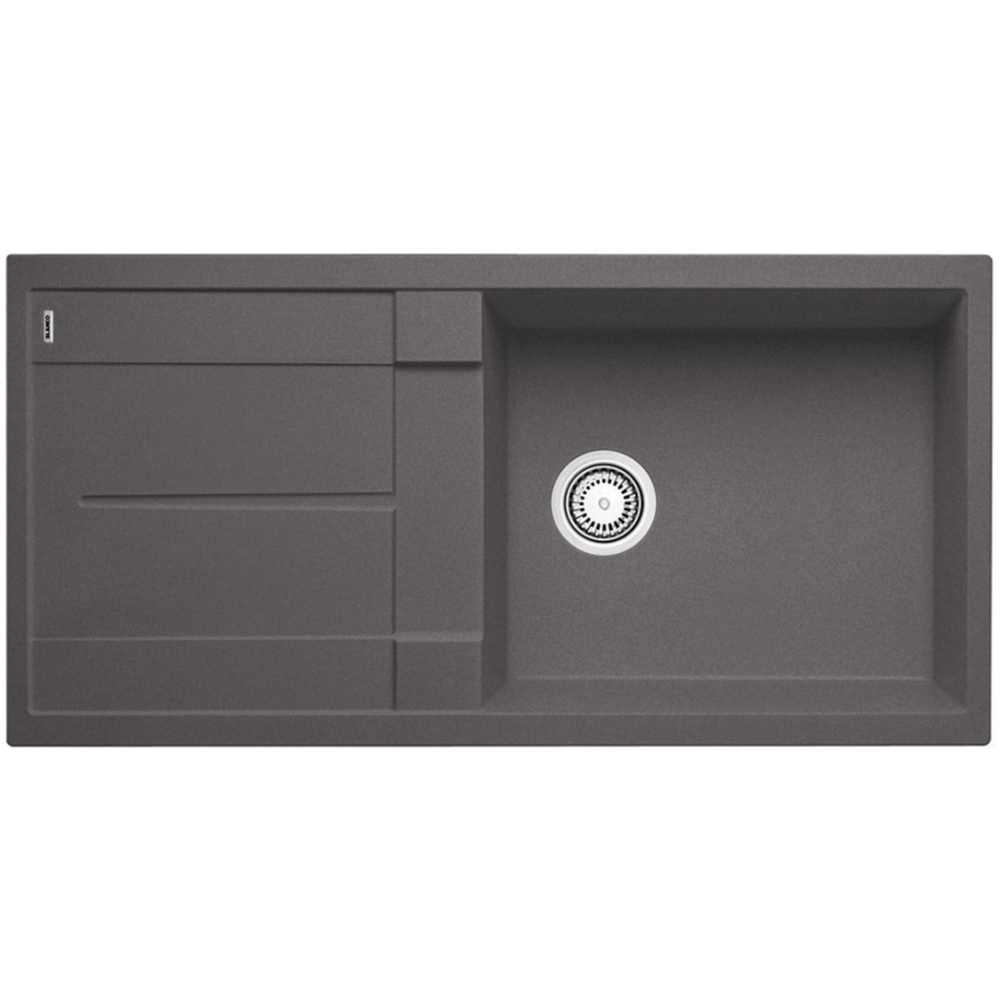 Blanco Silgranit Metra XL 6 S Single Sink with Drainer | Rock Grey