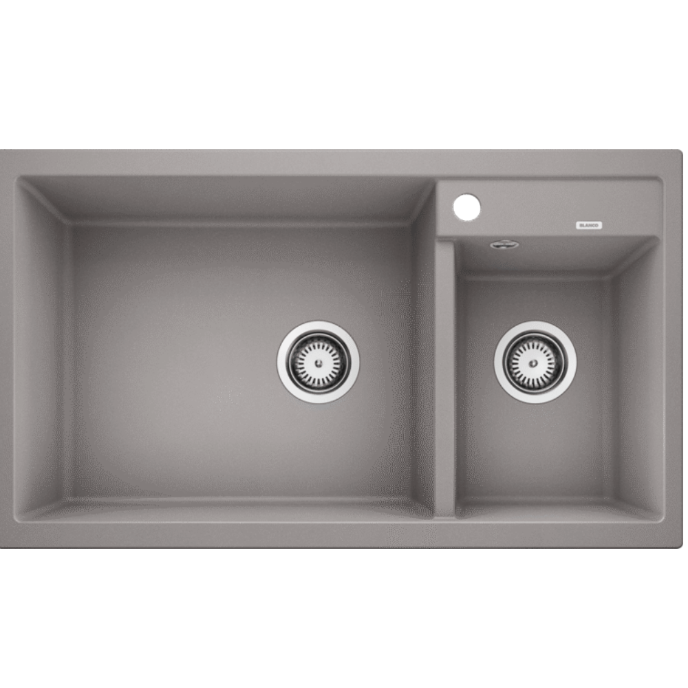 Blanco Silgranit Metra 9 Double Bowl - Alumetallic Grey