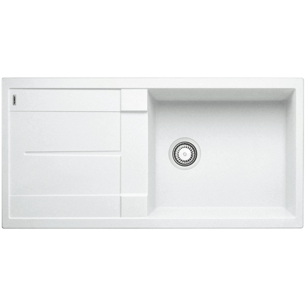 Blanco Silgranit Metra XL 6 S Single Sink with Drainer | White