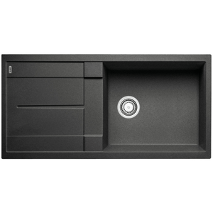 Blanco Silgranit Metra XL 6S Single Sink with Drainer | Anthracite Black