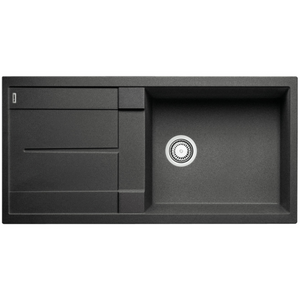 Blanco Silgranit Metra XL 6 S Single Sink with Drainer | Anthracite Black