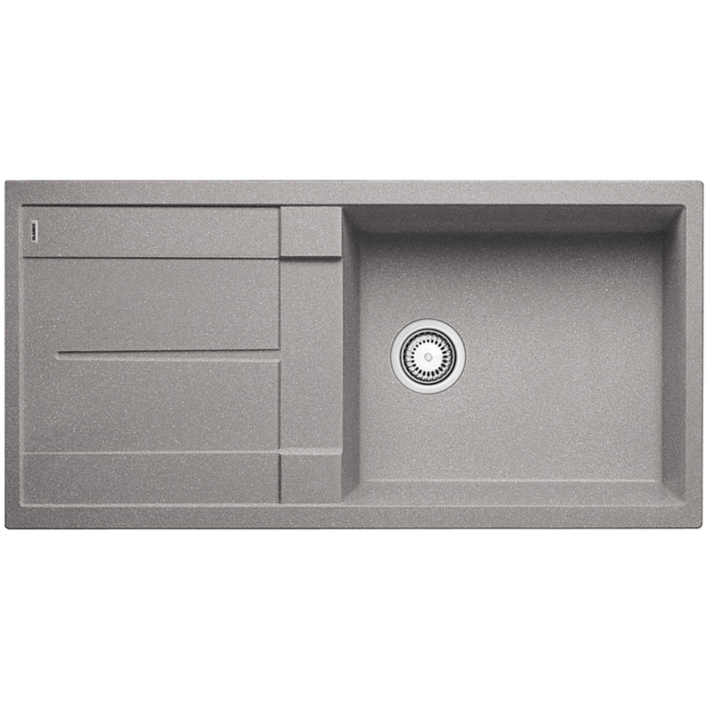 Blanco Silgranit Metra XL 6S Single Sink with Drainer | Alumetallic Grey