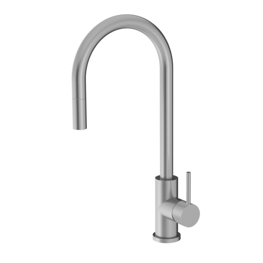 Oli 316 Kitchen Mixer Round Spout with Pull out spray & Linea Handle