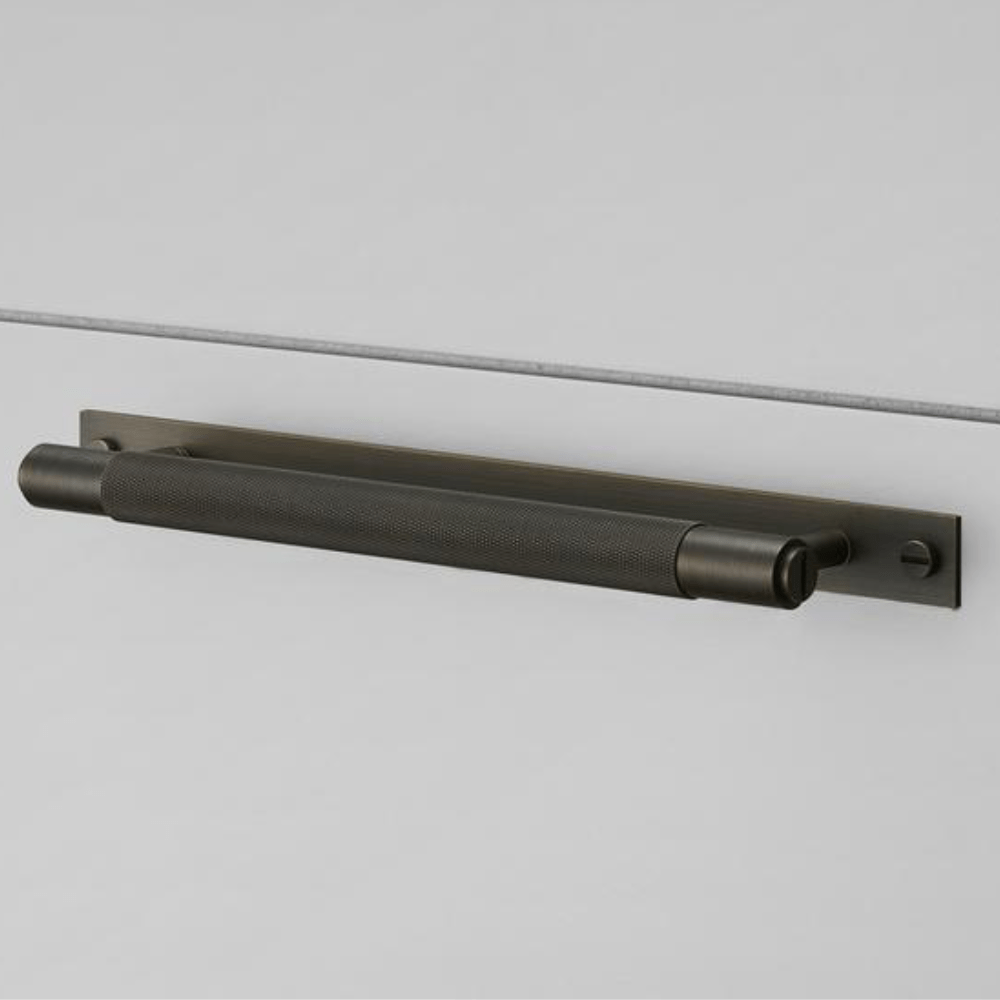 Buster + Punch Pull Bar Handle with Backplate - Smoked Bronze