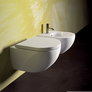 Sfera 54 Rimless Wall Hung Toilet With Standard Seat