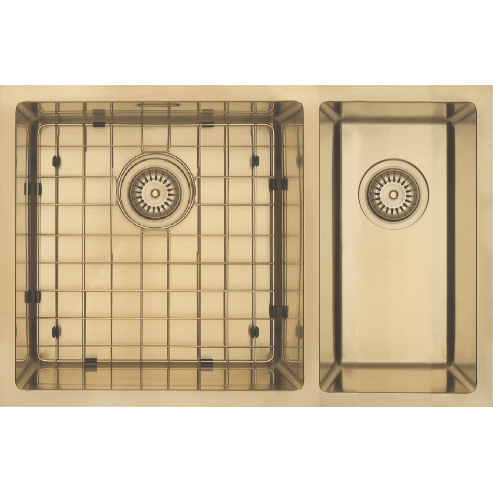Mercer Aurora Series Sink 400 x 400mm + 200 x 400mm - Brass