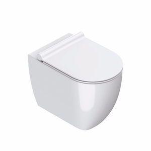 Sfera 54 Rimless Floor Mount Toilet With Slim Seat