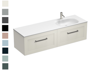 Hampton Spio 1500 2 Drawer Right Basin Vanity