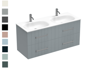 Linea Spio 1200 4 Drawer Double Basin Vanity