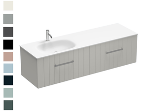 Linea Spio 1500 2 Drawer Left Basin Vanity