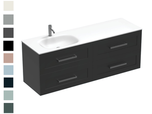 Linea Spio 1500 4 Drawer Left Basin Vanity