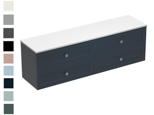 Hampton Opaco 1800 4 Drawer Vanity