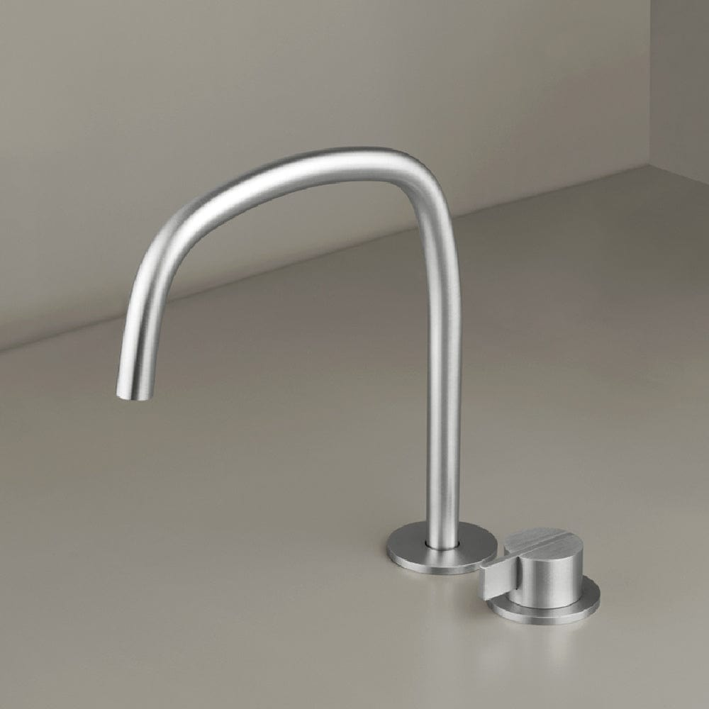 Piet Boon Deck Mounted Mixer with Swivel Spout | Stainless Steel