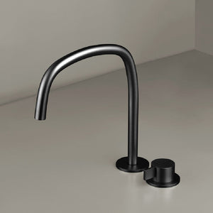 Piet Boon Deck Mounted Mixer with Swivel Spout | Gunmetal Black