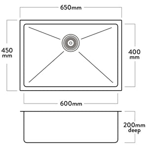 Acero DV106  Sink - Chester 600 x 400mm