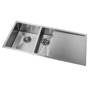 Mercer DV Salisbury Double Sink with Drainer | 340 + 170mm
