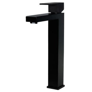Meir Square Tall Basin Mixer - Black