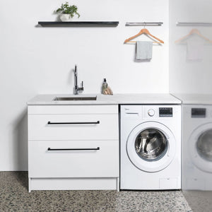 VCBC 900mm Laundry Cabinet with 2 Drawers | White