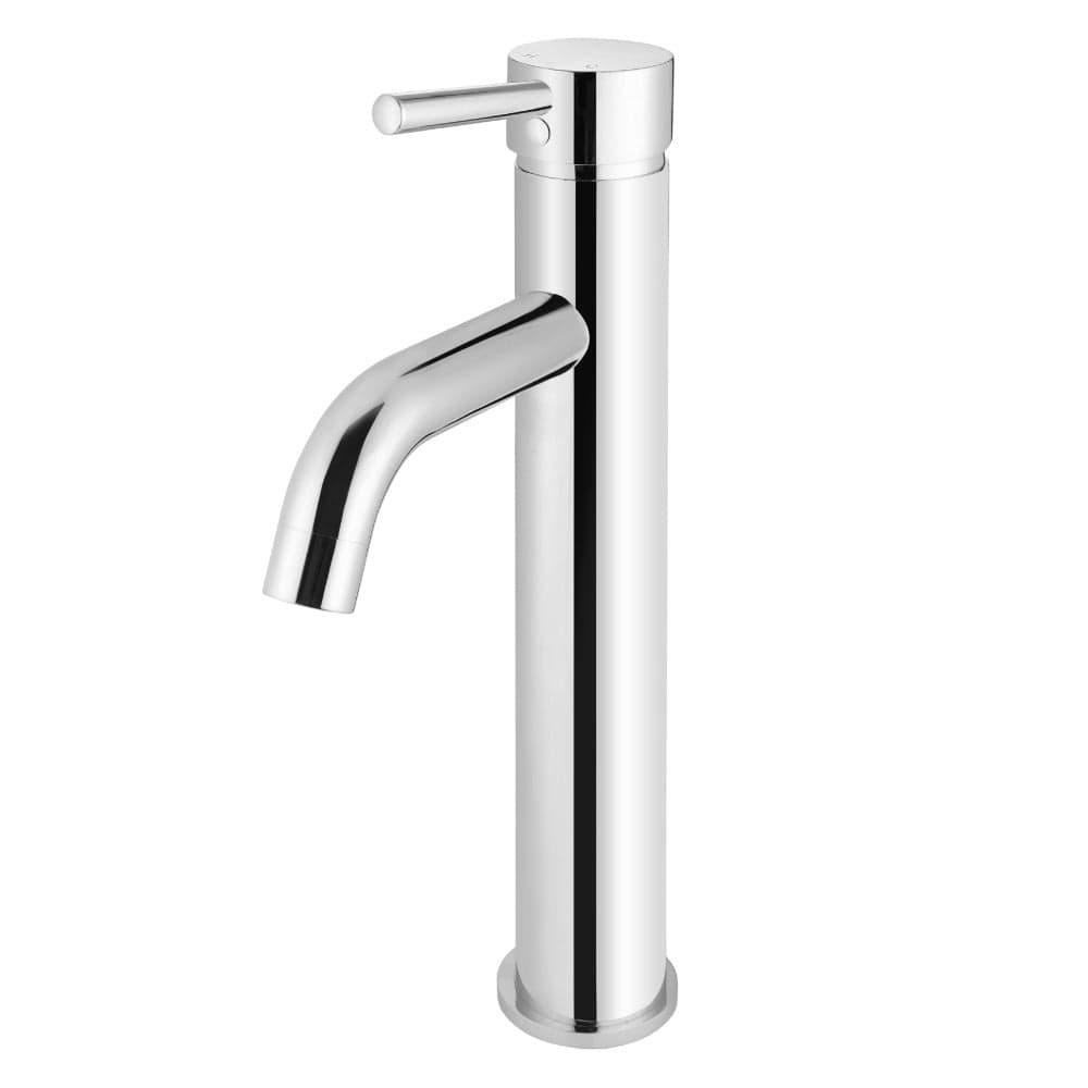 Meir Round Tall Basin Mixer with Curved Spout - Chrome