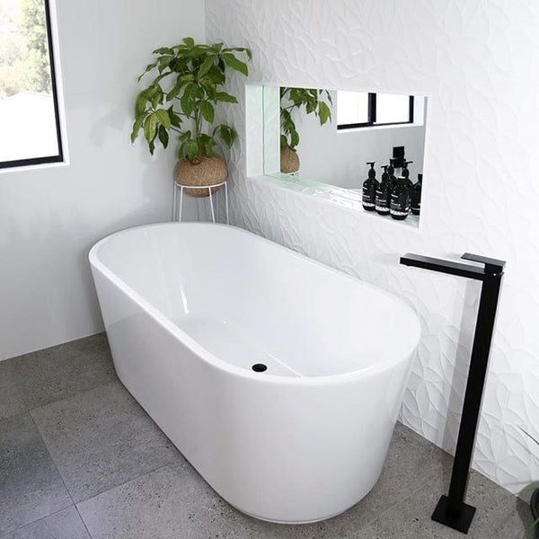 Black Tapware Freestanding Bath Filler By Meir The