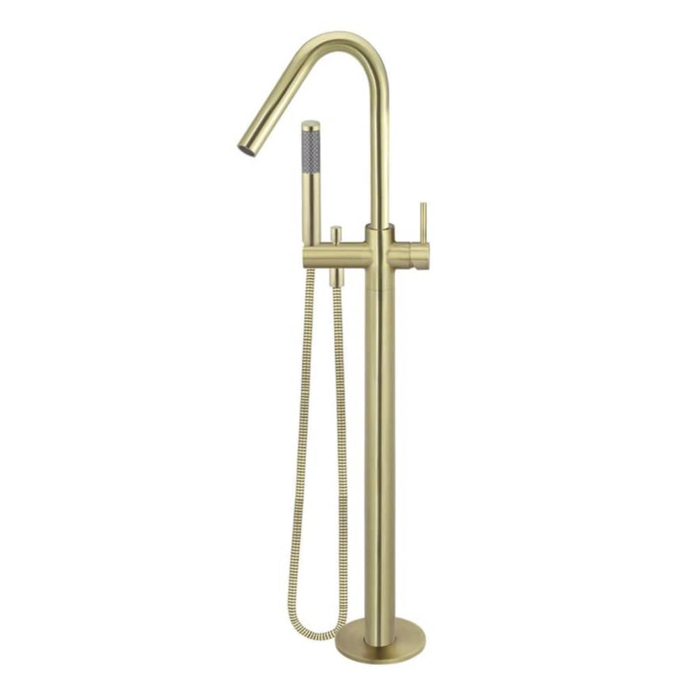 * Meir Freestanding Round Bath mixer and Hand Spray - Tiger Bronze