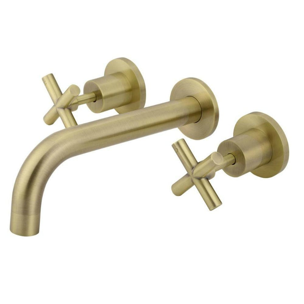 * Meir Combination Curved Spout with Cross Handles #8 - Tiger Bronze