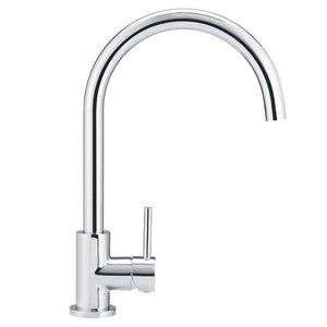 Meir Round Gooseneck Kitchen Mixer | Chrome