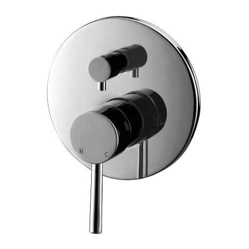 * Meir Wall Mixer with Diverter - Round Chrome