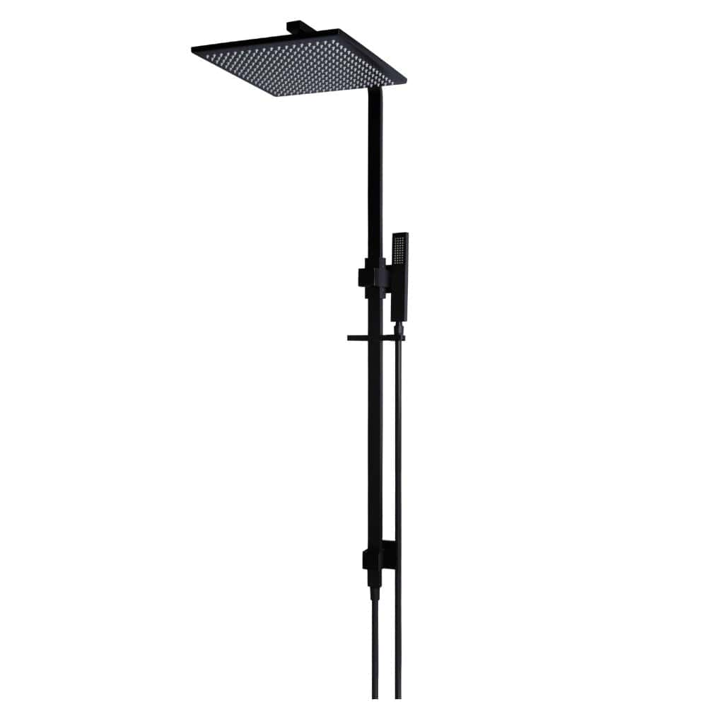 Meir 2-in-1 Square Shower with Single Function Hand Shower - Black