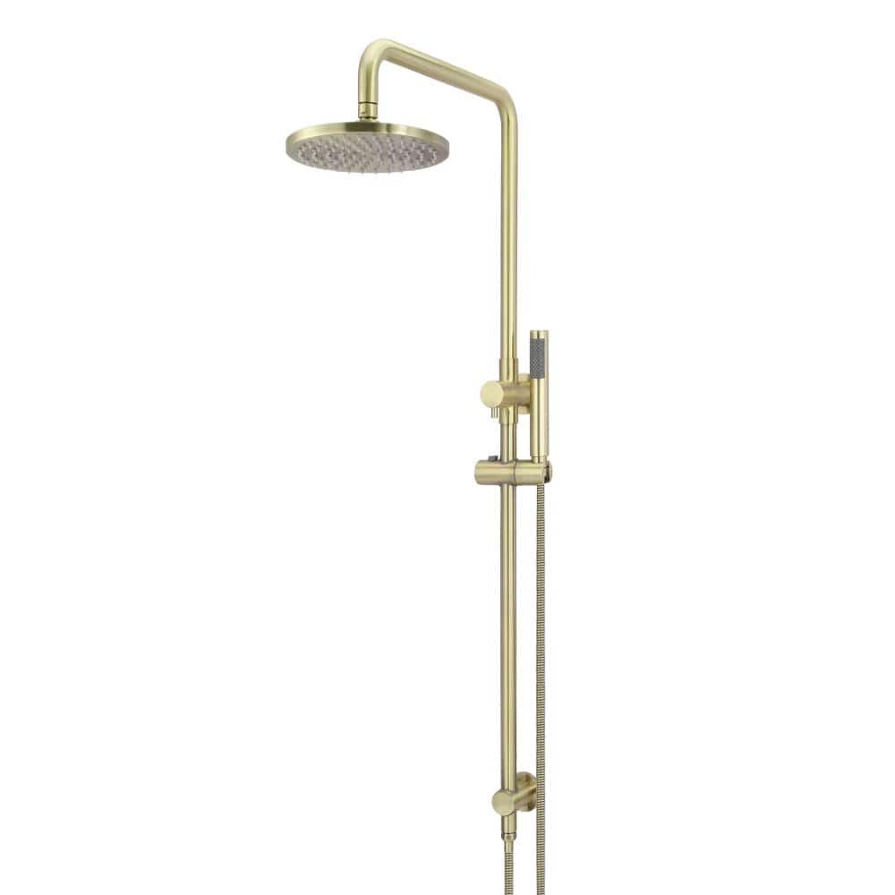 Meir 2-in-1 Round Shower with Single Function Hand Shower - Brushed Brass | Tiger Bronze