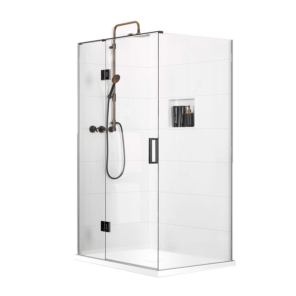 Atlantis Quub Bravo (Left-Hand) 2-Walled Shower - 1200 x 900mm