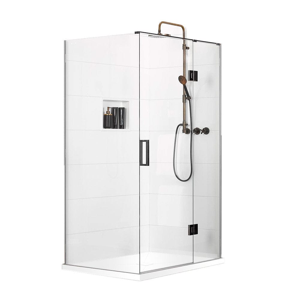 Atlantis Quub Nirvana (Right-Hand) 2-Walled Shower - 1200 x 900mm