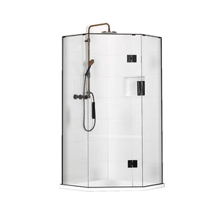 Atlantis Quub Dulcet 2-Walled Angle Front Shower - 900 x 900mm