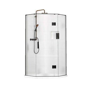 Atlantis Quub Mantra 2-Walled Angle Front Shower - 1000 x 1000mm